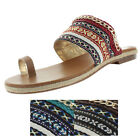 Luichiny Ah Mazing Women's Espadrille Boho Flat Sandals Shoes Beaded