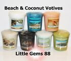 YANKEE CANDLE 15 HOUR VOTIVE ** BEACH & COCONUT SCENTS ** YOU PICK