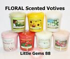 YANKEE CANDLE VOTIVE ** LOVELY FLORAL SCENTS ** YOU PICK ** 15 HOUR CANDLE ***