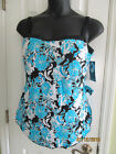 NEW Maxine of Hollywood Bandeau Sarong Slimming Swimsuit SIZES 20W 22W 20 22
