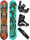 SNOWBOARD SET AIRTRACKS RED LIPS ROCKER+BINDUNG+STRONG BOOTS+BAG /152 156 159cm/