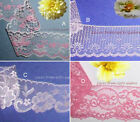"""Pink Lace Trim 9-24 Yds Vintage 2-1/4""""-2-1/2 Scalloped 020IV Your Choice"""