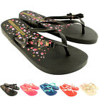 Womens iPanema Lola Flip Flop Slip On Bow Summer Holiday Beach Sandals UK 3-8