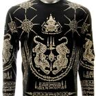 ls15b M L XL Irezumi Tattoo Long Sleeve T-shirt Hindu Magic Amulet Tiger Mystic