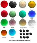 Ten Pieces BEAUTIFUL 15mm FACETED JEWELS 14 Color Choices Flat Back Bevel Top