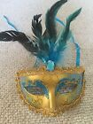 12 mardi gras mask lot Venetian masquerade year party wedding costume feather