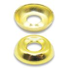 12g  SOLID BRASS SCREW CUP WASHER SURFACE MOUNTED - FOR COUNTERSUNK CSK SCREWS