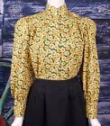FRONTIER CLASSICS Victorian Yellow Floral Somerset Blouse  Dickens Steampunk