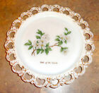 """Anchor Hocking LACE EDGE Decorated 13"""" Torte Plate - Lake of the Ozarks"""