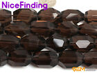 15x22mm Freefrom Faceted Natural Smoky Quartz Jewelry Making Beads Gemstone 6PCs