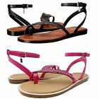 Coach Womens Beach Slip On Toe Ring Thong Studded Feather Ankle Strap Sandals