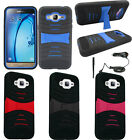 For Samsung Galaxy J7 Rugged Arch Wave Stand Cover Case CAR CHARGER STYLUS PEN
