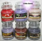 YANKEE CANDLE 40 HOURS ** G ~ L ** SMALL GLASS CANDLE JARS ~ YOU PICK ~ 3.7oz ~
