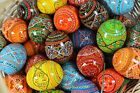 Colorful Painted Wooden Easter Egg Pysanky Pysanka Chicken Size 2.5'' x 1.75''