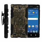 FOR SAMSUNG GALAXY PHONES CASE RUGGED ARMOR HYBRID HOLSTER Woodland Camo Woods