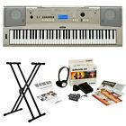Yamaha YPG235 76-Key Piano Keyboard with Stand and Keyboard Survival Kit