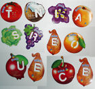 2 Letters Magnets Gervais Fruit Vegetables from France Read learn French