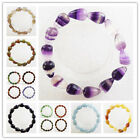 DL025 Beautiful mixed gemstone Teardrop stretchy bracelet 7 inch