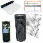 """1"""" Galvanised Aviary Mesh Fencing Coop Hutches Welded Wire Green PVC Coated 19ga"""