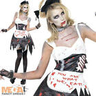 French Maid Zombie Ladies Sexy Halloween Fever Fancy Dress Womens Costume Outfit