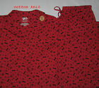 New Cabernet Dog Bone Paw Print Winter Pajamas Sleepwear Sets Womens Sizes XS L