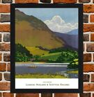 Framed Grasmere Railway Travel Poster A4 / A3 Size In Black / White Frame