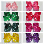 Baby/Toddler/Girl/Adult 4 Inch Boutique Hair Bows on Lined Clips - Spots