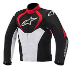Alpinestars T-Jaws Waterproof Mens Sport Riding Textile Jacket Black/Red/White