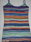 Royal Blue Multi Rainbow Stripe Print Cami Sleevelees/Tank Top