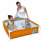 "My First Frame Pool 48""x48""x12"" Mini Square Kids Wading Swimming Pool"
