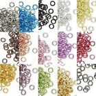 Lot of 40 Small 4mm 20 Gauge Colored Aluminum Open Round Jumprings Jump Rings