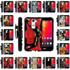 For LG Escape 2 | Clip + Holster + Case Combo Kickstand Basketball Series
