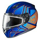 HJC CL-17 Redline Snow Helmet w/Frameless Dual Lens Shield Blue/Orange