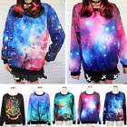 Women Mens Space Galaxy T-shirt sweater Sweatshirt hoodie Pullover Top Tracksuit
