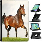 Beautiful Elegant Brown Horses Cover Leather Case For Samsung Galaxy Tablet