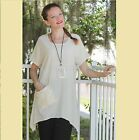 OH MY GAUZE Cotton  FAITH  Tunic A-Line Pocket Top 1 (S/M) 2 (L/XL) 3 (1X) BONE