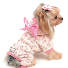Cute Soft Puppy Hoodie Jumpsuit Small Dogs Pets Apparel Fleece Warm Clothes