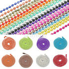 "1PC 70cm/28"" Metal Beads Ball Chain Necklace Jewelry Making 18 Colors 1.5/2.4mm"