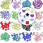 1000pcs Acrylic Flat Back Rhinestones Nail Arts Decors Jewelry 10 Style 12 Color