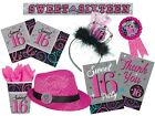 SWEET 16 Birthday Party TABLEWARE & DECORATIONS {Amscan} (16th/Age 16)