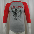 Authentic RED FANG Prehistoric Dog 3/4 Red Sleeve Raglan T-Shirt Small & 2XL NEW