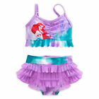 Disney Store Princess The Little Mermaid Ariel 2 PC Swimsuit Girl Size 4 5/6 7/8