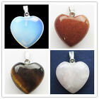 Beautiful Mixed Stone Heart Pendant bead XX08