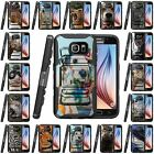 Samsung Galaxy S6 Active | Rugged Holster Clip Heavy Duty Case Wild Animals