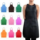 Jazooli Plain Unisex Cooking Catering Work Apron Tabard with Twin Double Pocket