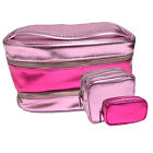 Внешний вид - Victoria's Secret Bag 3 Piece Cosmetic Train Case Set Make Up Pink Travel Beauty