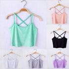 Women Scoop Neck Cropped Belly Top Sleeveless Fitted Tee Stretchy Blouse Vest