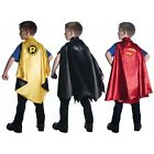 Superhero Cape Kids Superman Batman Robin Halloween Costume Pretend Play