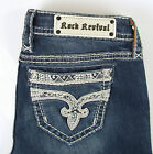 ROCK REVIVAL 'Chereen' Crystal Embellished Easy Boot Cut Jeans - Blue BE200