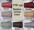 *FREE SHIPPING* Top Quality Bamboo Cotton Linen Cone Yarns Knit Crochet Weave